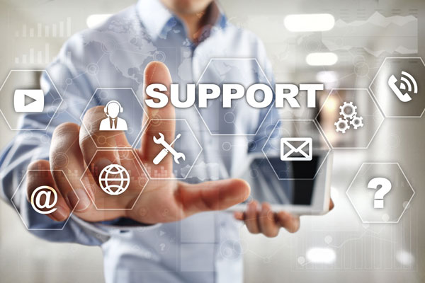 remote support graphic