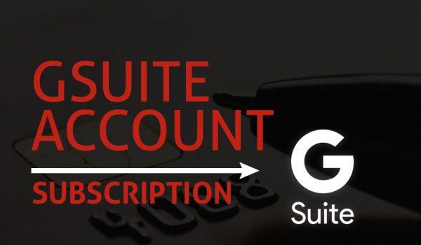 GSuite Account