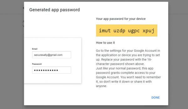 App Specific Passwords for Less Secure Apps in Your GSuite Account